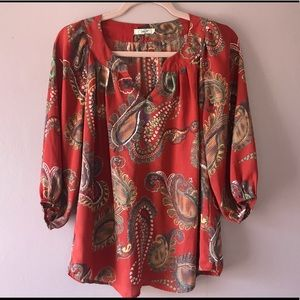 3/4 length tunic blouse